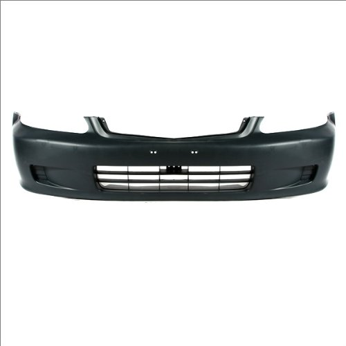 CarPartsDepot, Front Bumper Cover Primed Black Plastic Unpainted Assembly, 352-20132-10-PM HO1000184 04711S01A01ZZ (Front Bumper For Honda Civic 2000 compare prices)