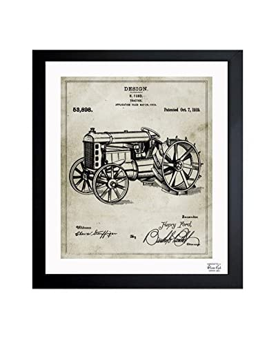 Oliver Gal Ford Tractor 1919 Framed Art