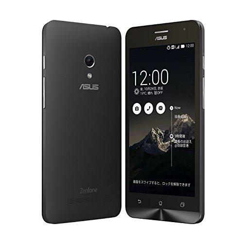 国内正規品ASUSTek ZenFone5 OCN モバイル ONE 音声対応SIMセット( SIMフリー / Android4.4.2 / 5型ワイド / microSIM / LTE) A500KL月額900円~SIMアダプタ+SIMカードケース付 (16GB, ブラック)