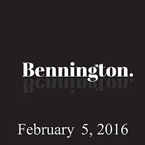 Bennington, February 05, 2016 Radio/TV Program