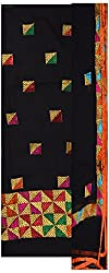 Rangoli Creations Women's Cotton Silk Unstitched Dress Material (Black)