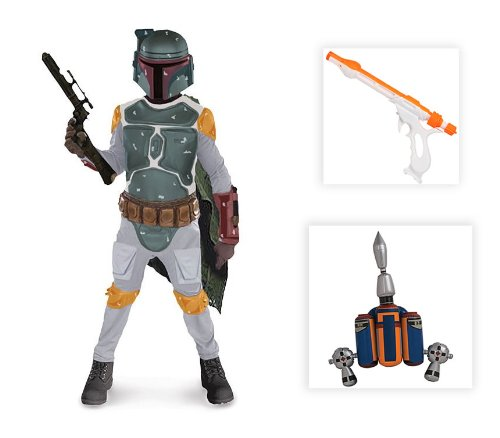 Star Wars: Boba Fett Child Costume with Jetpack and Gun - Large (12-14)