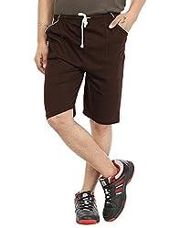 Gumber Brown Solid Shorts (GE_VT_NKR_BRN_1PC)