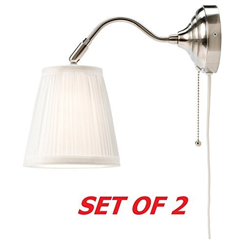 Wall Sconces Ikea: Ikea Arstid Wall Lamp Sconce White (2 Pack) Corded Plug In