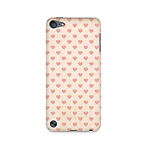 High Quality Printed Cover Case for Apple IPOD TOUCH 6 Model - Vintage Heart
