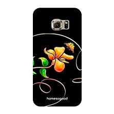 buy Homesogood Floral Signature Black 3D Mobile Case For Samsung S6 Edge ( Back Cover)