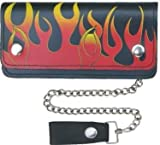 Long Biker Leather Chain Wallet Large 8″