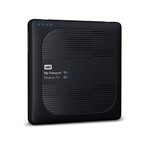 WD 3TB My Passport Wireless Pro Portable External Hard Drive - WIFI USB 3.0 - WDBSMT0030BBK-NESN (Western Digital Wireless Drive compare prices)