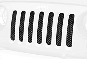 Rugged Ridge 11401.31 Black Gloss Mesh Grille Insert Screen