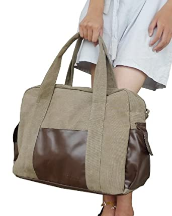 Bargain Otium 20228LKA Canvas Large Capacity Sports Bag Handbag Tote Bag,Khaki, for Men & Women Online