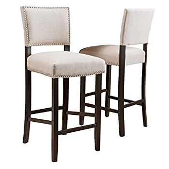 Denise Austin Home William Fabric Backed Barstool (Set of 2)