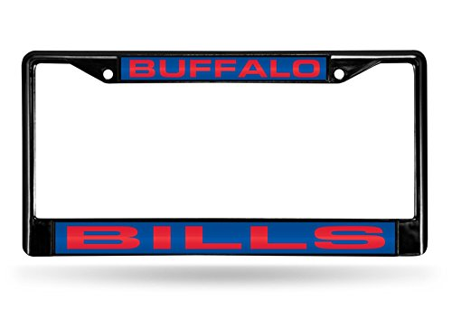 Rico Industries RIC-FCLB3501 Buffalo Bills NFL Laser Cut Black License Plate Frame (License Plate Frame Buffalo compare prices)
