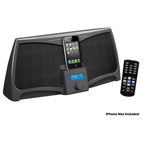 Pyle Home 30-Pin Ipad/Ipod/Iphone Stereo Speaker Dock With Remote Control