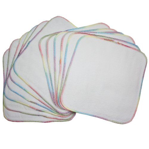 Terry Flannel Wipes (12 Pack) (Bleached)