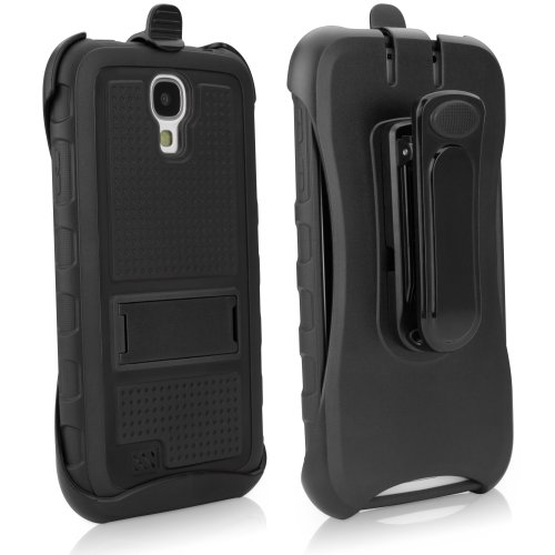 BoxWave Samsung Galaxy S4 Active Case with Holster - Ultra Rugged, 3 Layer Samsung Galaxy S4 Hybrid Holster Case with Shell Combo, Integrated Viewing Stand for Extreme Samsung Galaxy S4 Protection (Pi