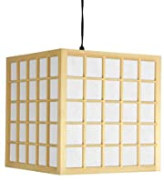 Hot Sale Oriental Furniture Portable Shoji Ceiling Light Swag Lamp, 12.5-Inch Japanese Hanging Ceiling Lantern, Natural