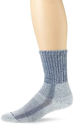 Thorlo Women's Moderate Cushion Coolmax Lt Hiker Crew Sock,Slate Blue,Size Large (9.5-11)
