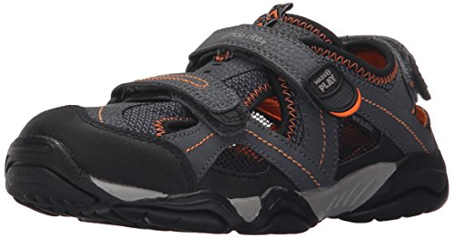 Stride Rite Made 2 Play Soni Sandal (Toddler/Little Kid), Grey/Black, 12.5 W US Little Kid