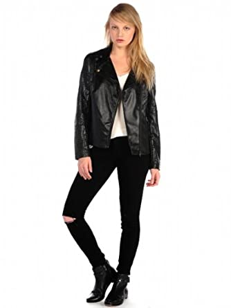 House of Harlow 1960 Womens Ramona Jacket - Black - Extra Small