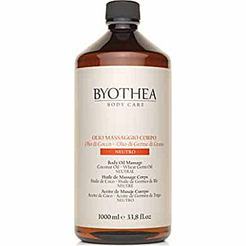 Neutral Body Oil Massage 1000ml Byothea ® Coconut Oil and Wheat Germ Massage