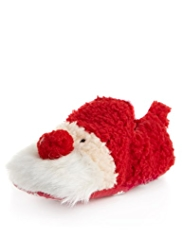 Santa Faux Fur Pram Shoes