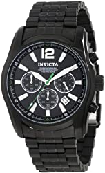 Invicta Men's 10629 Specialty Chronograph Black Dial Black Ion-Plated Stainless Steel Watch
