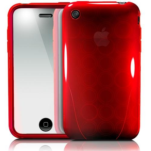 【正規品】 iSkin ソフトケース solo FX for iPhone 3G/3GS Red SOVB3G-RD