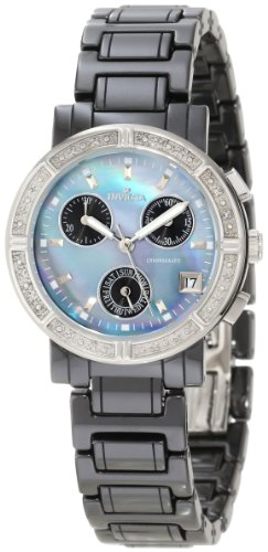 Invicta Women's 0728 Ceramics Collection Chronograph Diamond-Accented Watch
