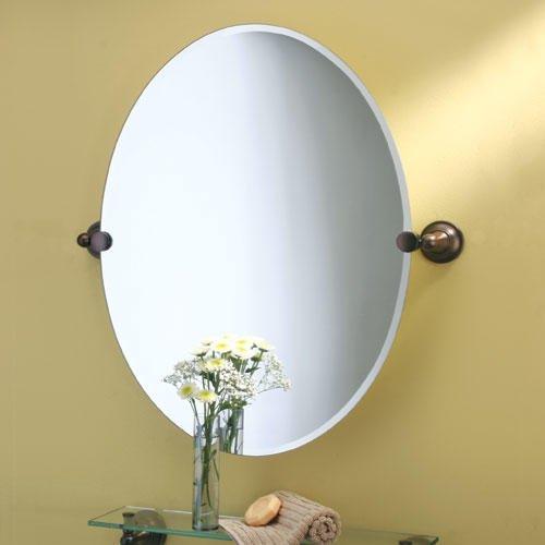 "Tiara Oval Tilting Mirror - 19-1/2"" X 26-1/2"" - front-916992"