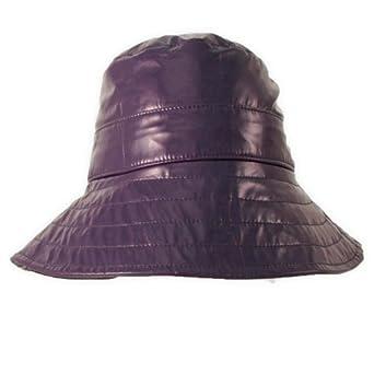 Patent Large Brim Rain Hat Purple One Size At Amazon