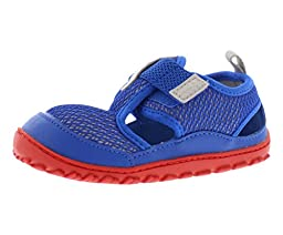 Reebok Ventureflex Sandal (Infant/Toddler),Vital Blue/Steel/Red,8 M US Toddler