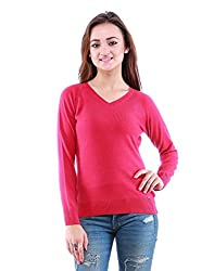 DOVE Womens V-Neck Sweaters & Pullovers (Large)