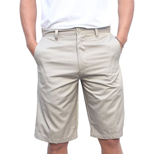 Burnside Men's Solid Daily Chino Short (38, Khaki) (Wig The Old Hippie)