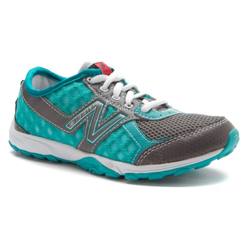 New Balance KT20 Minimus Trial Running Shoe (Little Kid/Big Kid),Teal/Grey,4 M US Big Kid