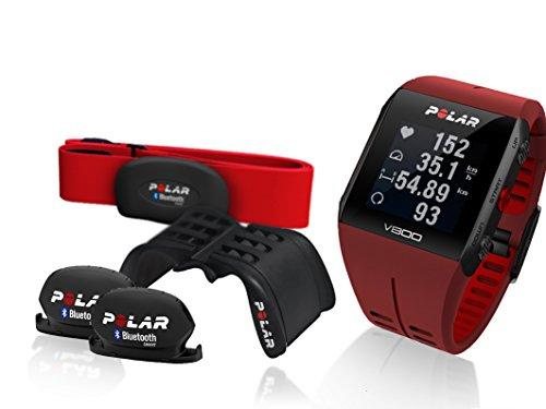 Polar-V800-Special-Edition-im-Vorteilsbundle-rotschwarz-Bundle-inklusive-Herzfrequenz-Sensor-Radhalterung-Geschwindigkeits-und-Trittfrequenz-Sensor