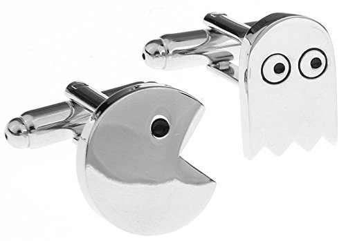 Unknown Travel Cufflinks For Men Brass Material Cute Pacman Design Cuff Links