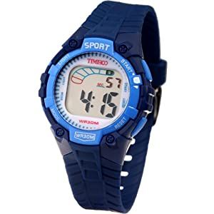 Time100 Kids' Fancy LCD Multifunction Royal Blue Strap Digital Watches#W40010L.06A