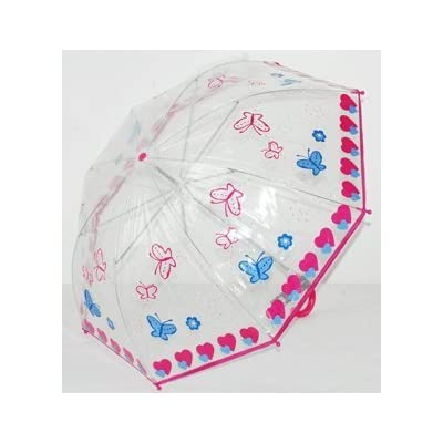 Childrens butterflys clear umbrella