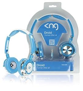 KNG Droid Human After All Designer Headphones - Blue