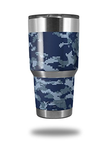 WraptorCamo Digital Camo Navy - Decal Style Skin Wrap fits Yeti Rambler and Walmart Ozark Trail 30oz Tumblers (TUMBLER NOT INCLUDED) (Camo Wrap For Yeti Cooler compare prices)