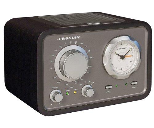 Crosley Cr3005a Bk Duet Audiophile Radio With Alarm Clock