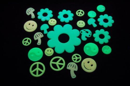 Glow In The Dark 60s Stickers - 1