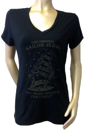 Sailor Jerry HOMEWARD BOUND Womens V Neck Shirt (XX-Large, Black) (Sailor Jerrys Tank Top compare prices)