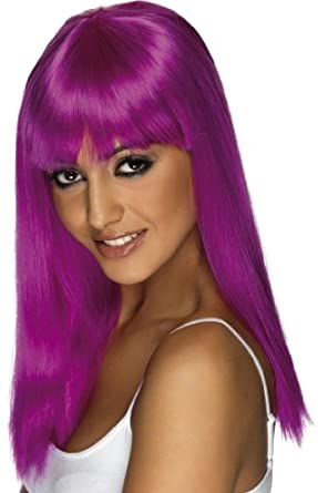 Glamourama Neon Purple Wig (Standard)