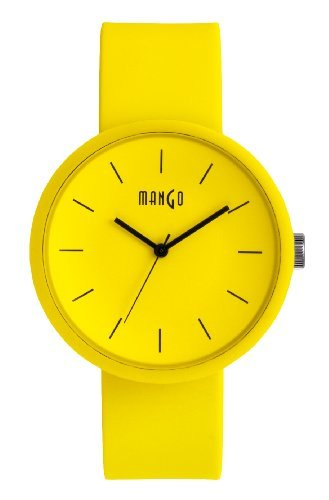 Mango Unisex Watch - Analog - Silicone - Yellow - A68356Y16I