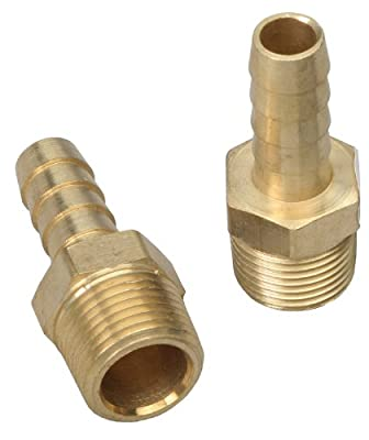 Trans-Dapt 2270 Brass Straight Fuel Hose Fittings - Set of 2