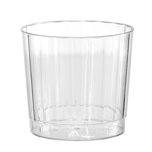 Party Essentials Deluxe/Elegance Hard Plastic 9-Ounce Party Cups/Old Fashioned Tumblers, 20-Count, Clear - 1