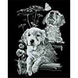 Mammut A30PPSF14 - Kratzbild Silber - Labradors, 20 x 25.5 cm