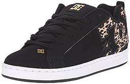 DC Women\'s Court Graffik SE Skate Shoe, Black/Tan, 7 M US
