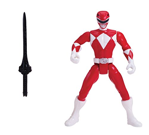 "Power Rangers Super Megaforce - 4"" Mighty Morphin Red Ranger Action Figure - 1"